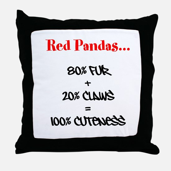 100% Cuteness Throw Pillow