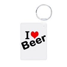 I Love Beer Keychains