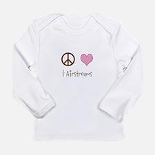 Baby Shirt: Peace Love  Airstreams Long Sleeve T-S