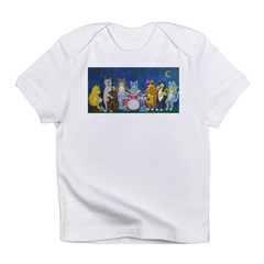 Salsa Cats at Night Infant T-Shirt