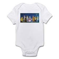 Salsa Cats at Night Infant Bodysuit