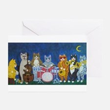 Salsa Cats at Night Greeting Cards (Pk of 10)