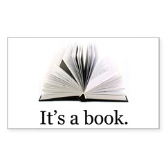 Its a book Decal