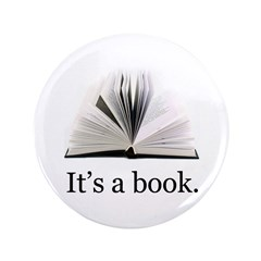 """Its a book 3.5"""" Button (100 pack)"""
