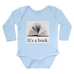 Its a book Long Sleeve Infant Bodysuit