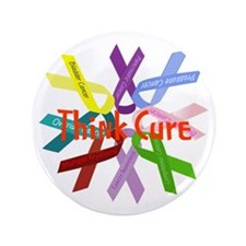 """Think Cure 3.5"""" Button (100 pack)"""