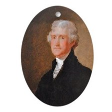Founding Fathers: Thomas Jefferson Ornament (Oval)