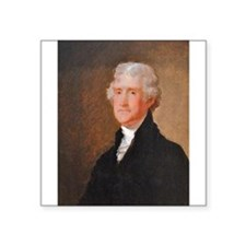 Founding Fathers: Thomas Jefferson Square Sticker