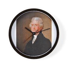 Founding Fathers: Thomas Jefferson Wall Clock