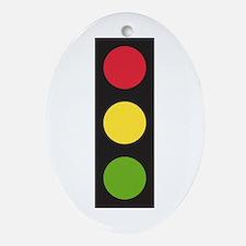 Traffic Light Ornament (Oval)