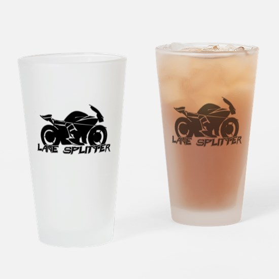 Lane Splitter Drinking Glass