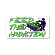 Feed The Addiction Aluminum License Plate