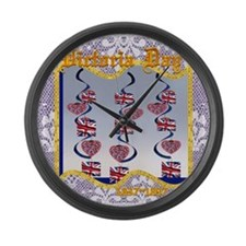 Victoria Day 1837~1897 Large Wall Clock