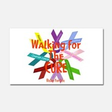 Walking for the CURE copy.png Car Magnet 20 x 12