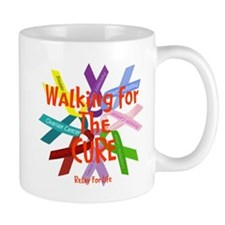 Walking for the CURE copy.png Mug