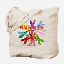 Walking for the CURE copy.png Tote Bag