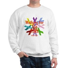 Walking for the CURE copy.png Sweatshirt