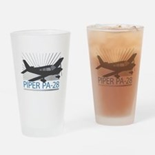 Aircraft Piper PA-28 Drinking Glass