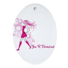 Cute Dismissed Ornament (Oval)