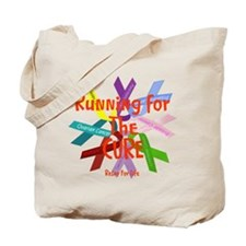 Running for the CURE.png Tote Bag