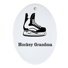 Hockey Grandma Ornament (Oval)