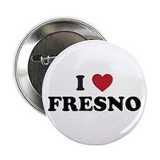 """I Love Fresno California 2.25"""" Button"""