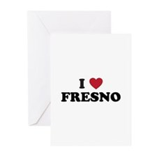 I Love Fresno California Greeting Cards (Pk of 20)