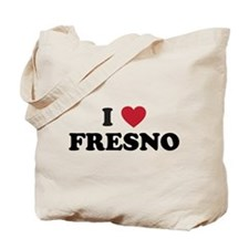 I Love Fresno California Tote Bag