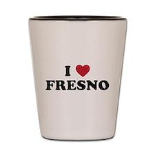 I Love Fresno California Shot Glass