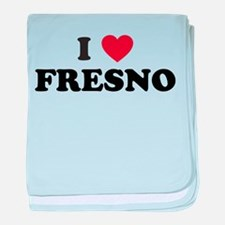 I Love Fresno California baby blanket