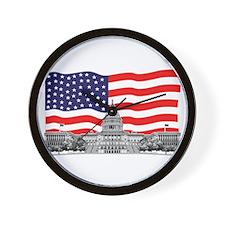 USCapitolbldgFlagREC2.png Wall Clock