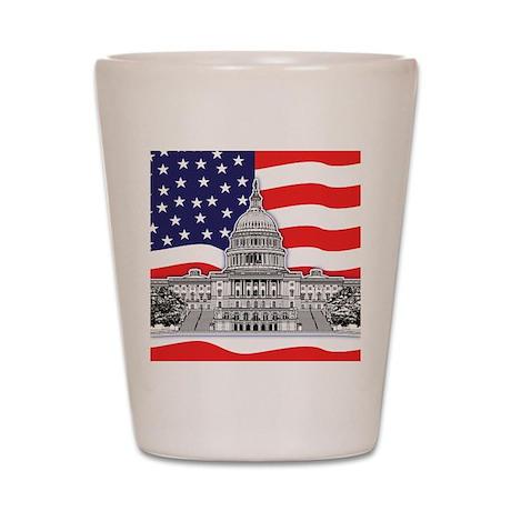 U.S. Capitol Building Shot Glass