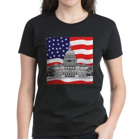 U.S. Capitol Building Women's Dark T-Shirt