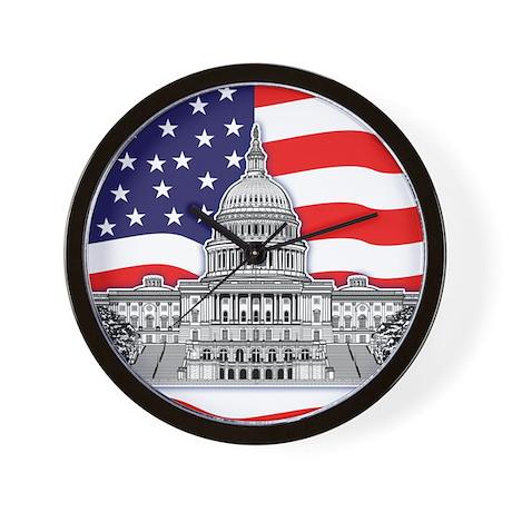 U.S. Capitol Building Wall Clock