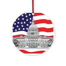 U.S. Capitol Building Ornament (Round)