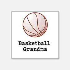 "Basketball Grandma Square Sticker 3"" x 3"""