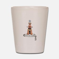 Airedale Terrier Chef Shot Glass