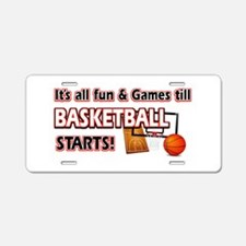Cool Basketball Designs Aluminum License Plate