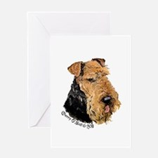 Airedale Terrier Good Dog Greeting Card