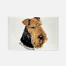 Airedale Terrier Good Dog Rectangle Magnet (10 pac