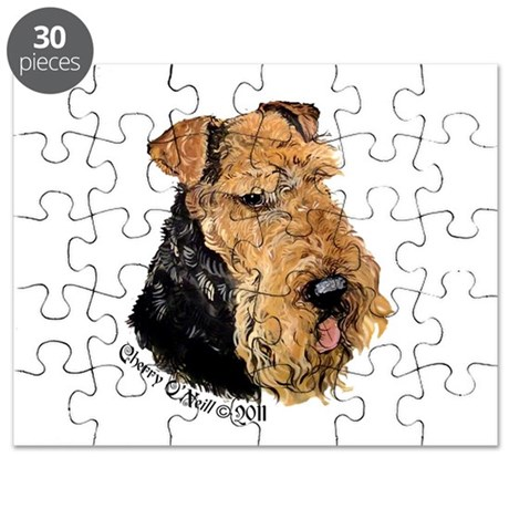 Airedale Terrier Good Dog Puzzle by TailEnd