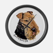 Airedale Terrier Good Dog Large Wall Clock