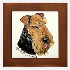 Airedale Terrier Good Dog Framed Tile