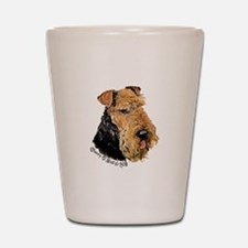 Airedale Terrier Good Dog Shot Glass