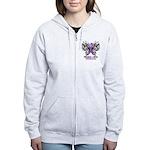 Butterfly Pancreatic Cancer Women's Zip Hoodie