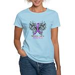 Butterfly Pancreatic Cancer Women's Light T-Shirt