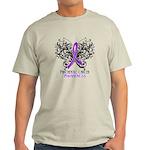 Butterfly Pancreatic Cancer Light T-Shirt