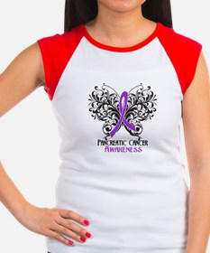Butterfly Pancreatic Cancer Women's Cap Sleeve T-S