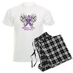 Butterfly Pancreatic Cancer Men's Light Pajamas