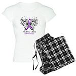 Butterfly Pancreatic Cancer Women's Light Pajamas